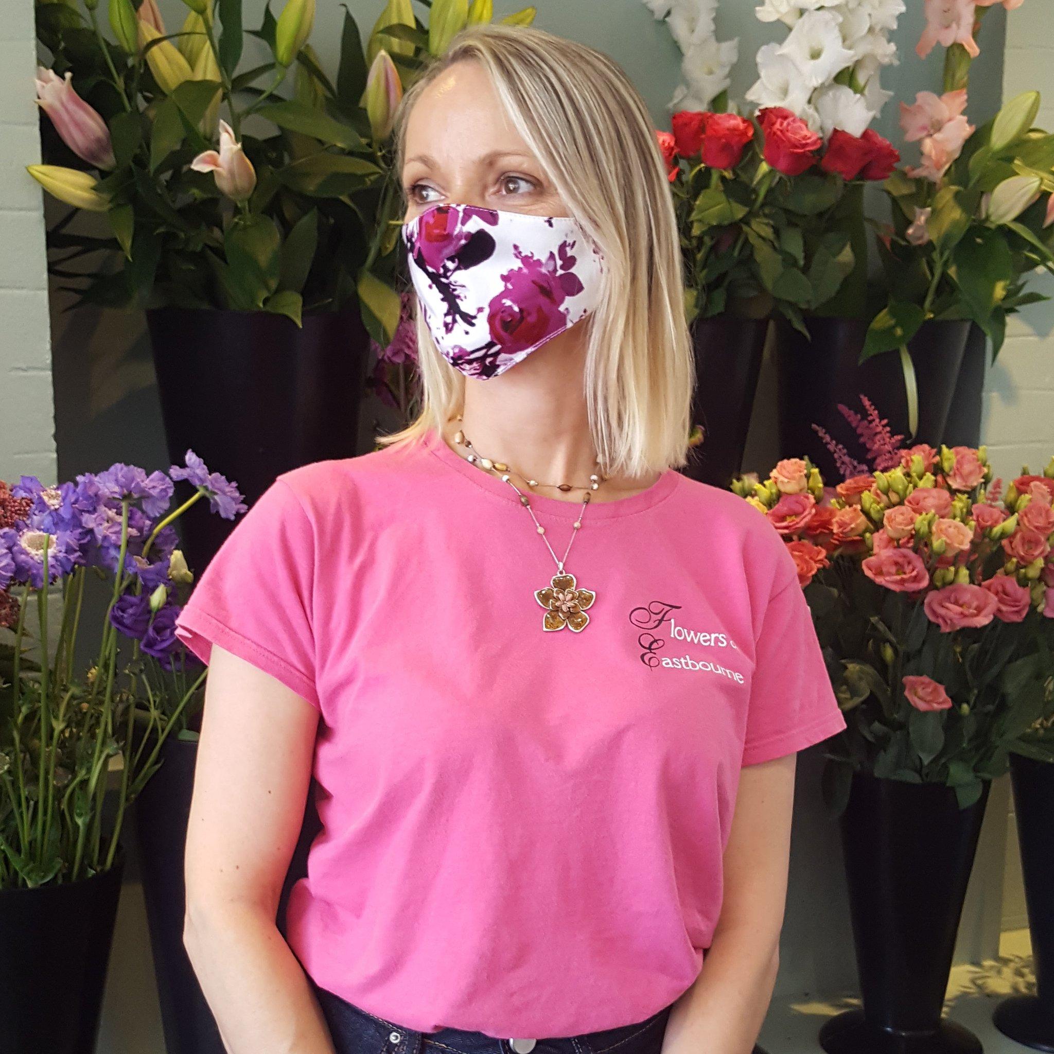 Face Mask Adult Vintage Print Cotton