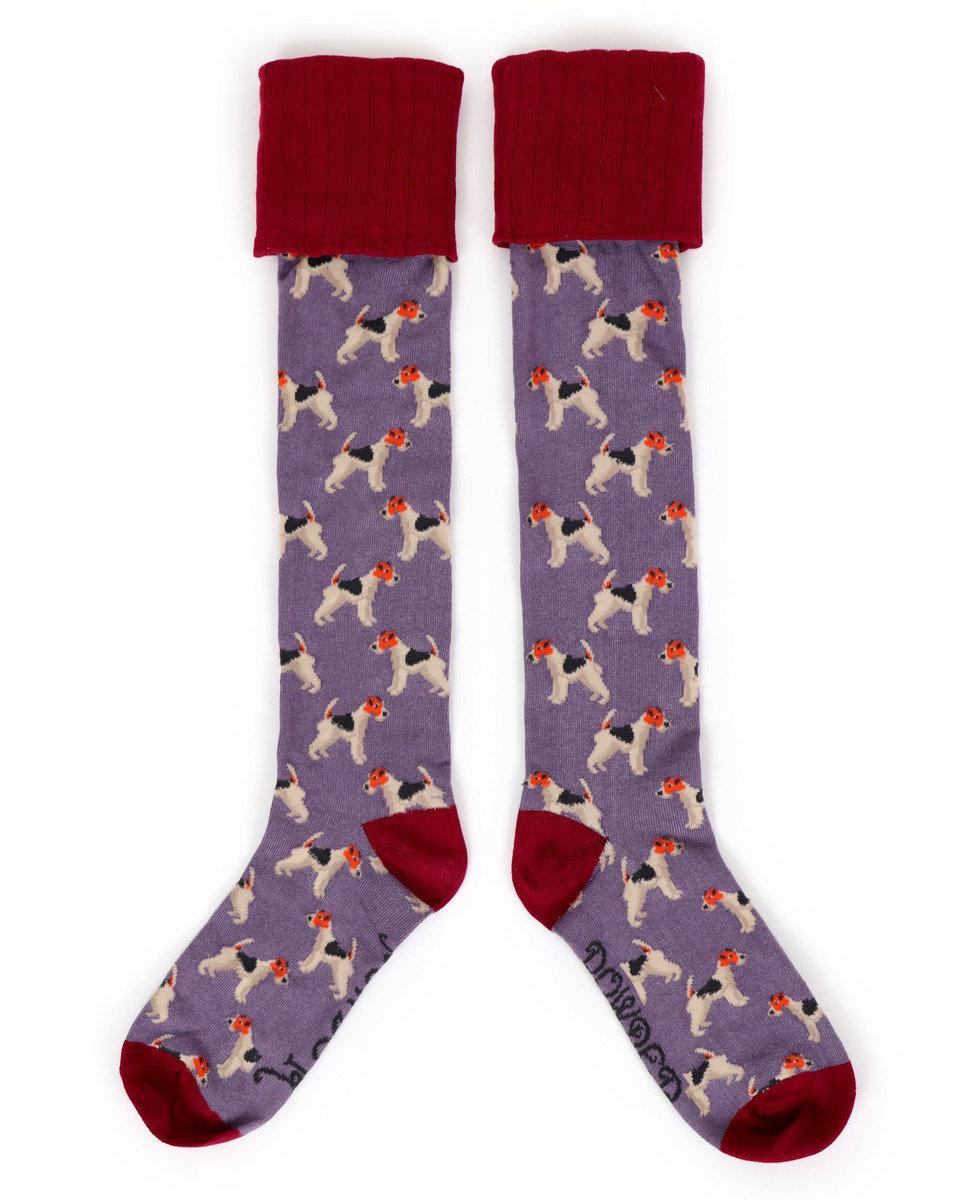Powder Boot Socks Fox Terrier