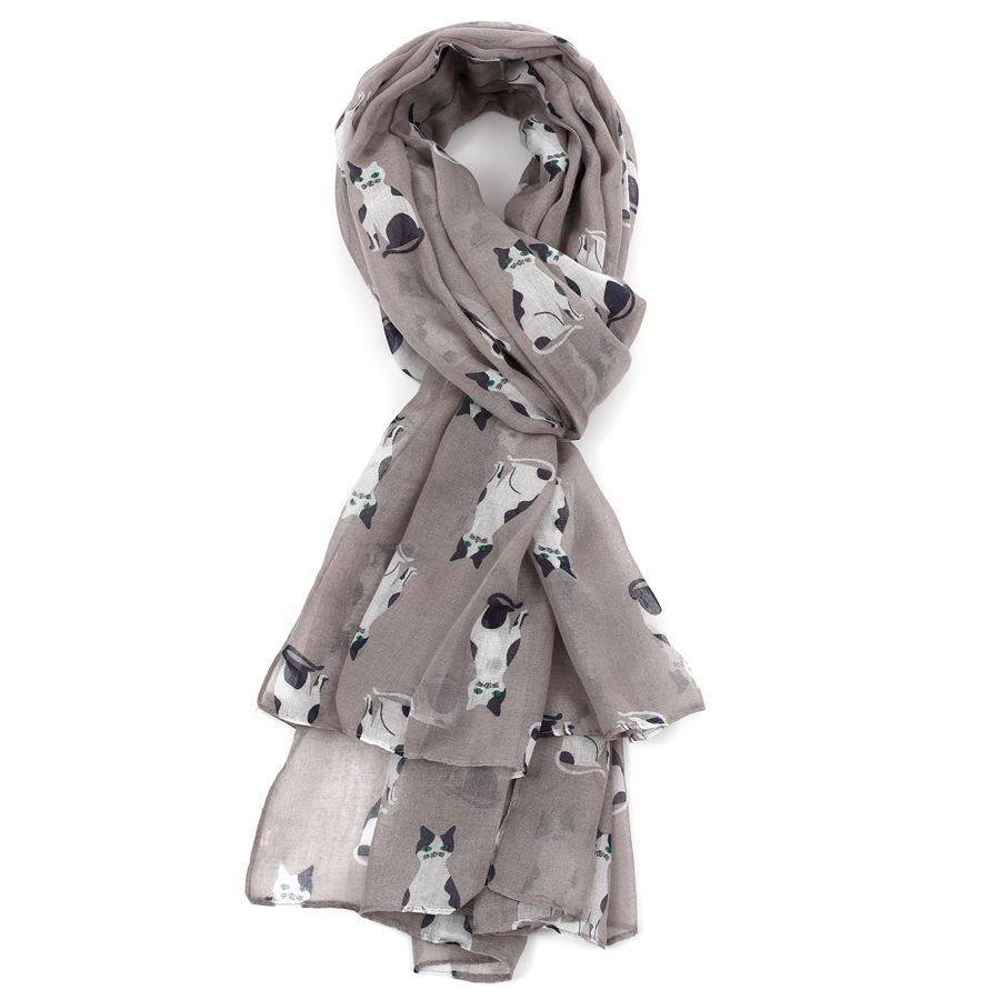 Cat Scarf Grey