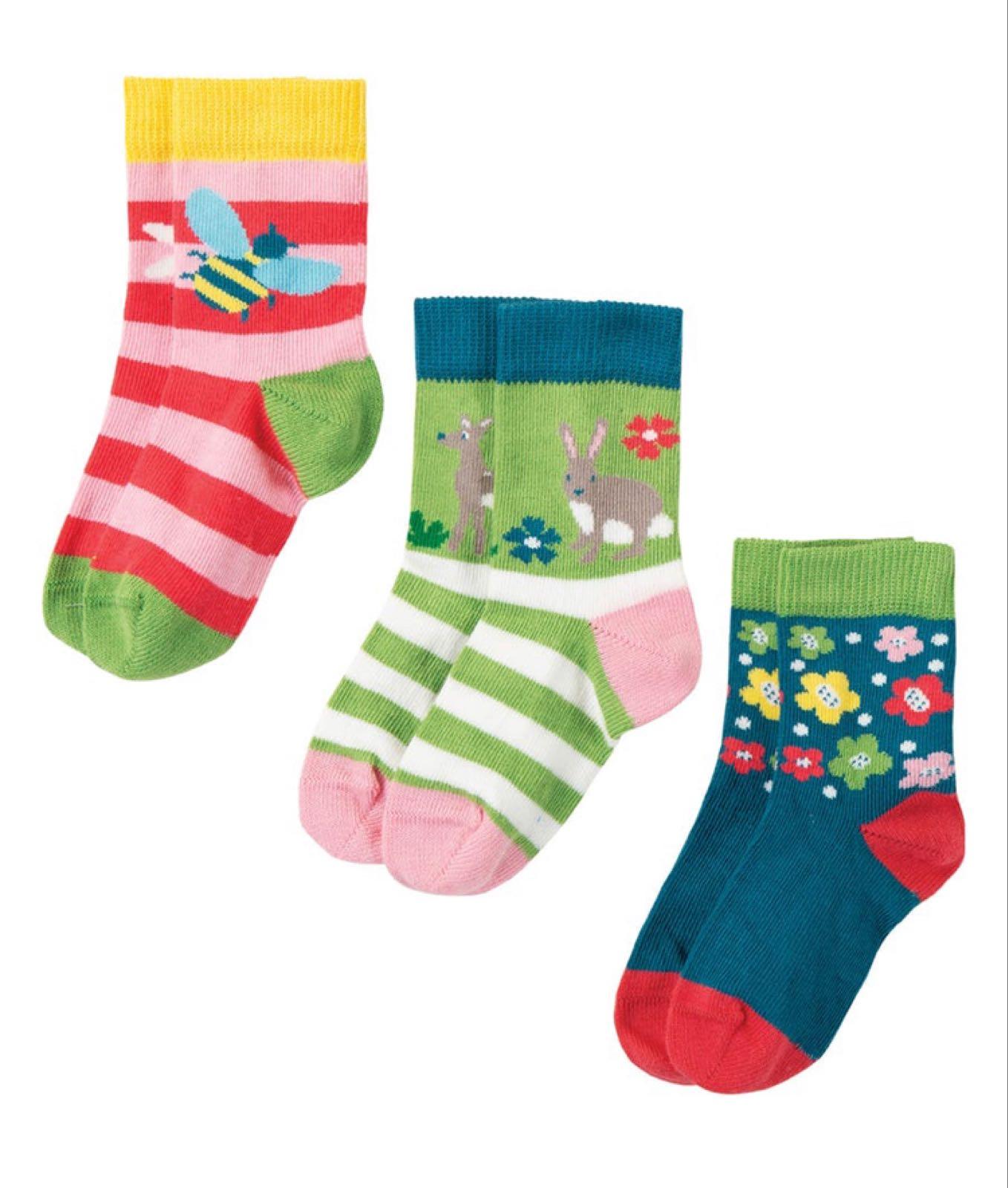 Frugi Little Socks Deer Multipack