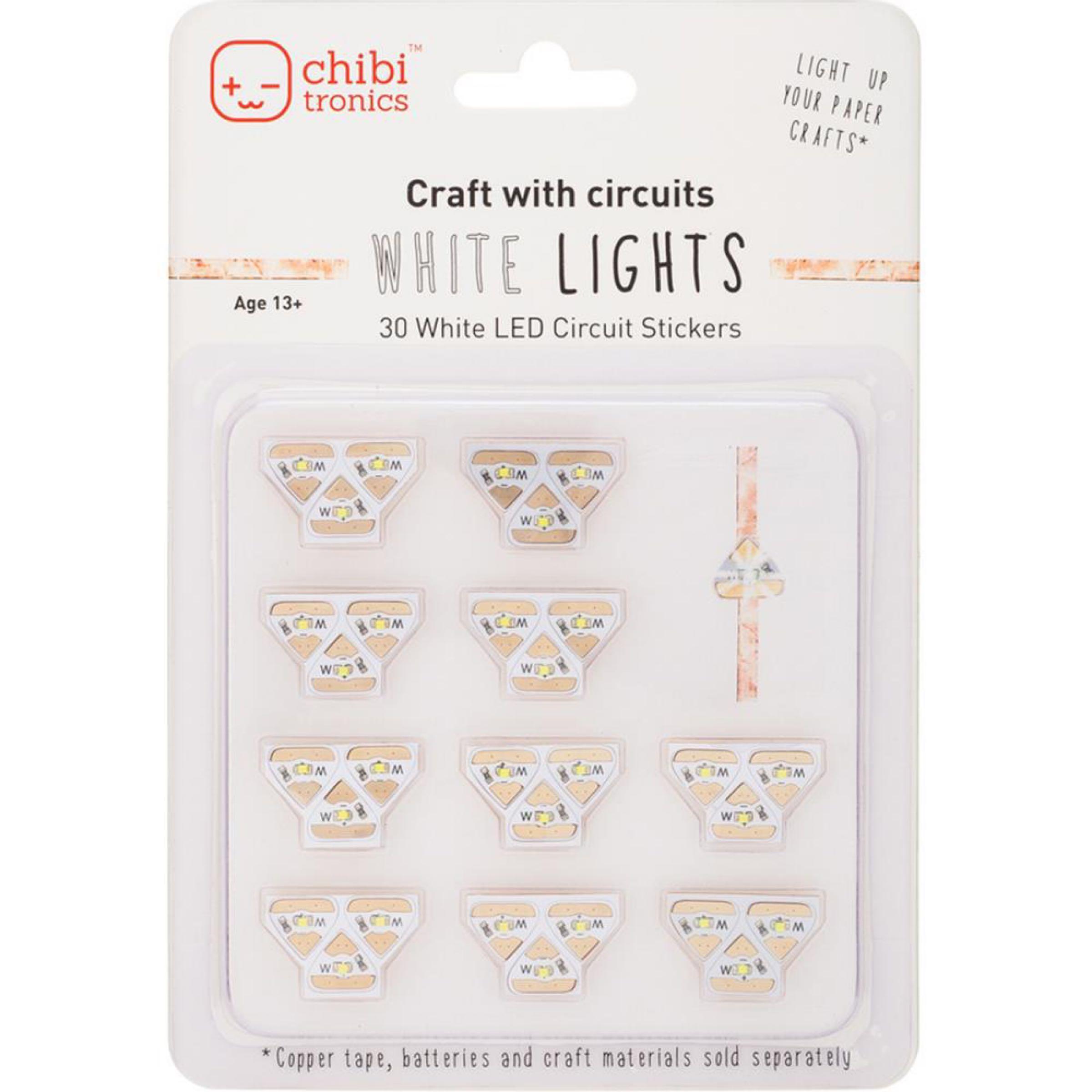 Chibitronics White LED Mega Pack  *Out of Stock*