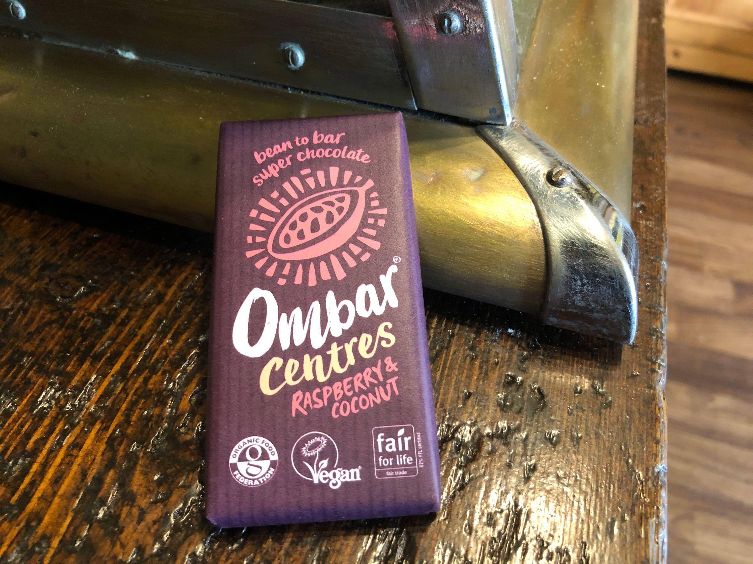 Ombar Raspberry & Coconut Vegan Chocolate mini bar 35g