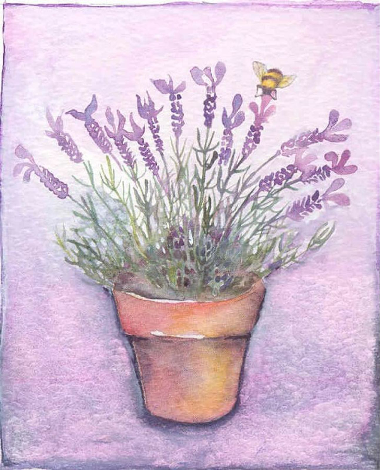 'Lavender & Bee' Furzedown Gallery Mini Card