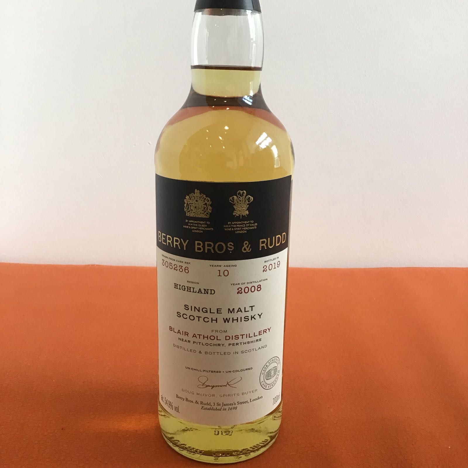 Blair Athol 10 Year Old / Single Cask #305236 / Cask Strength / Berry Bros & Rudd