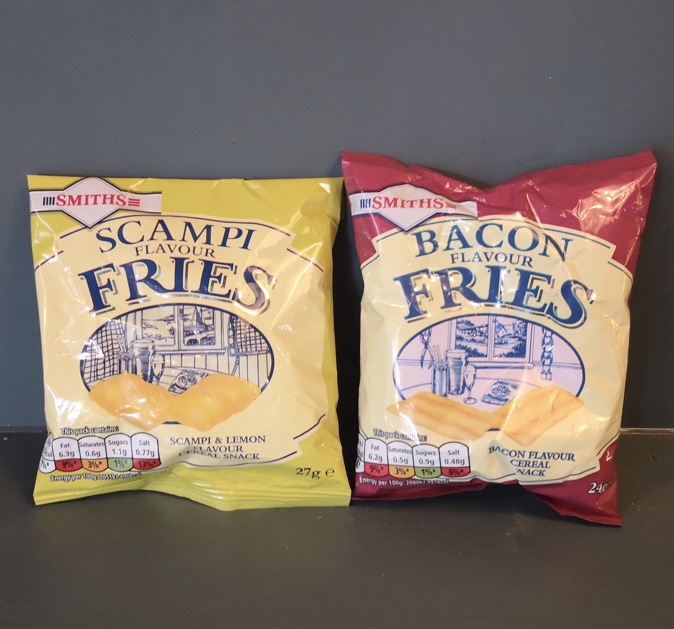 Bacon and scampi fries