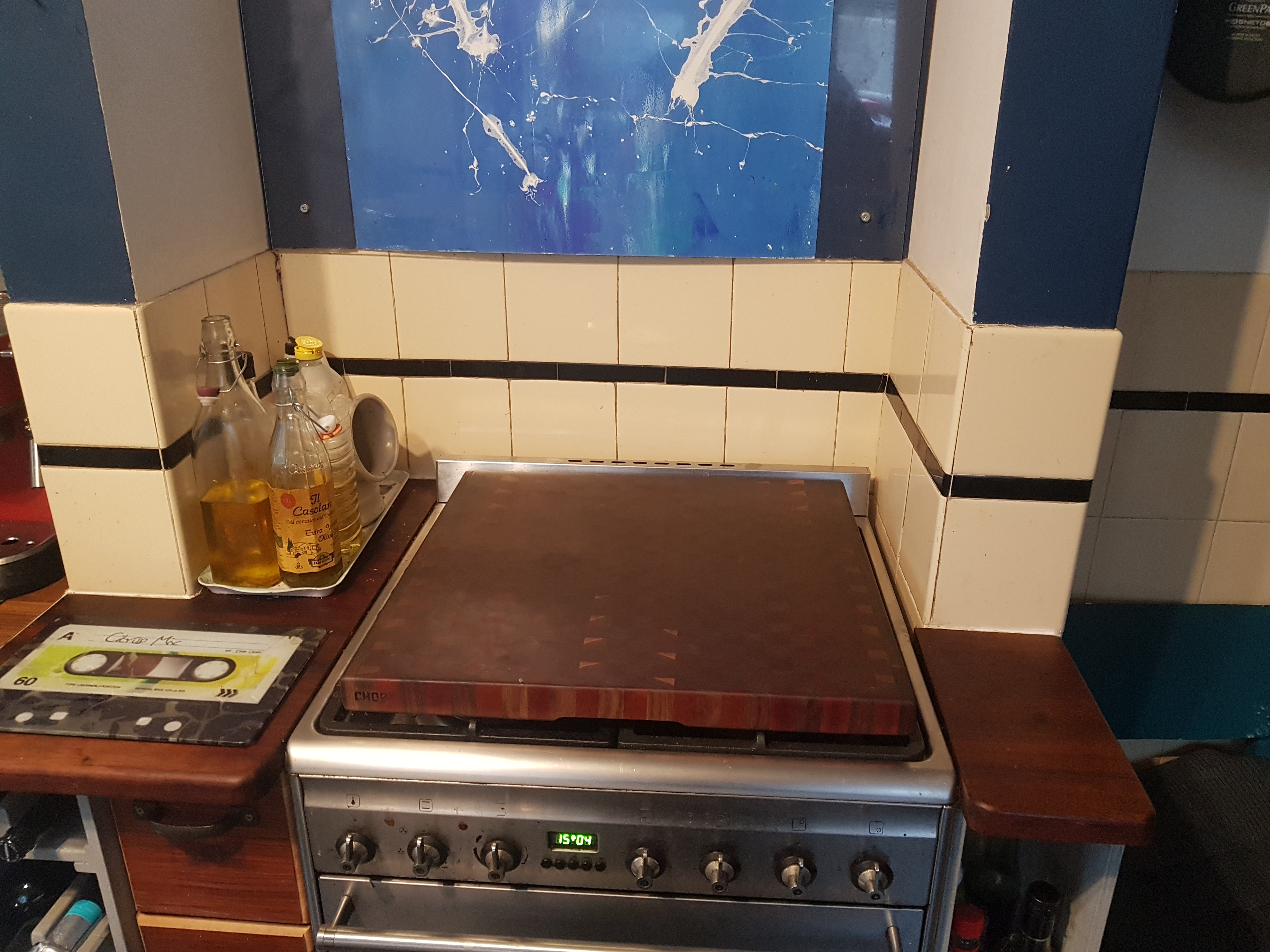 Large chequered counter top