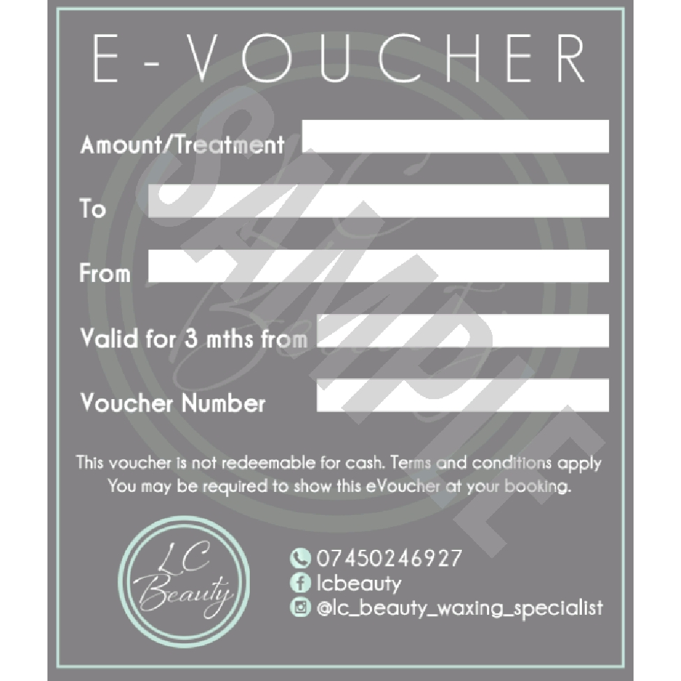 LC Beauty Gift Voucher