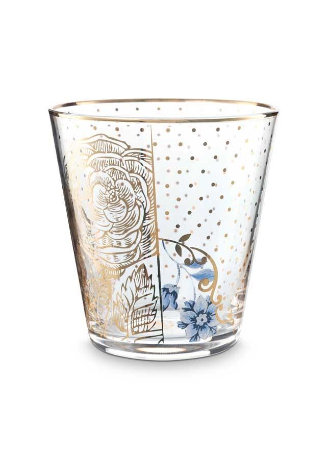 Pip studio small glass tumbler royal golden flower