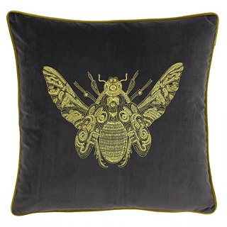 Cerana 50x50cm bee cushion in charcoal