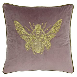 Cerana bee cushion in dusky pink