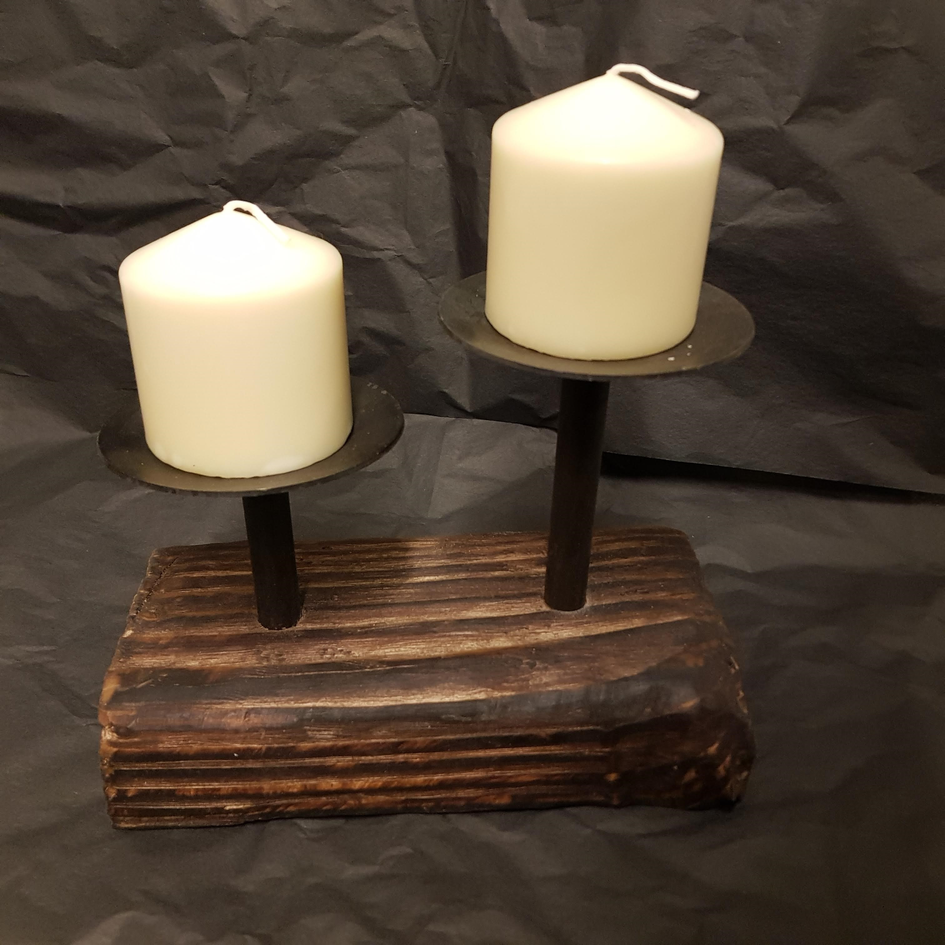 Candle holder double