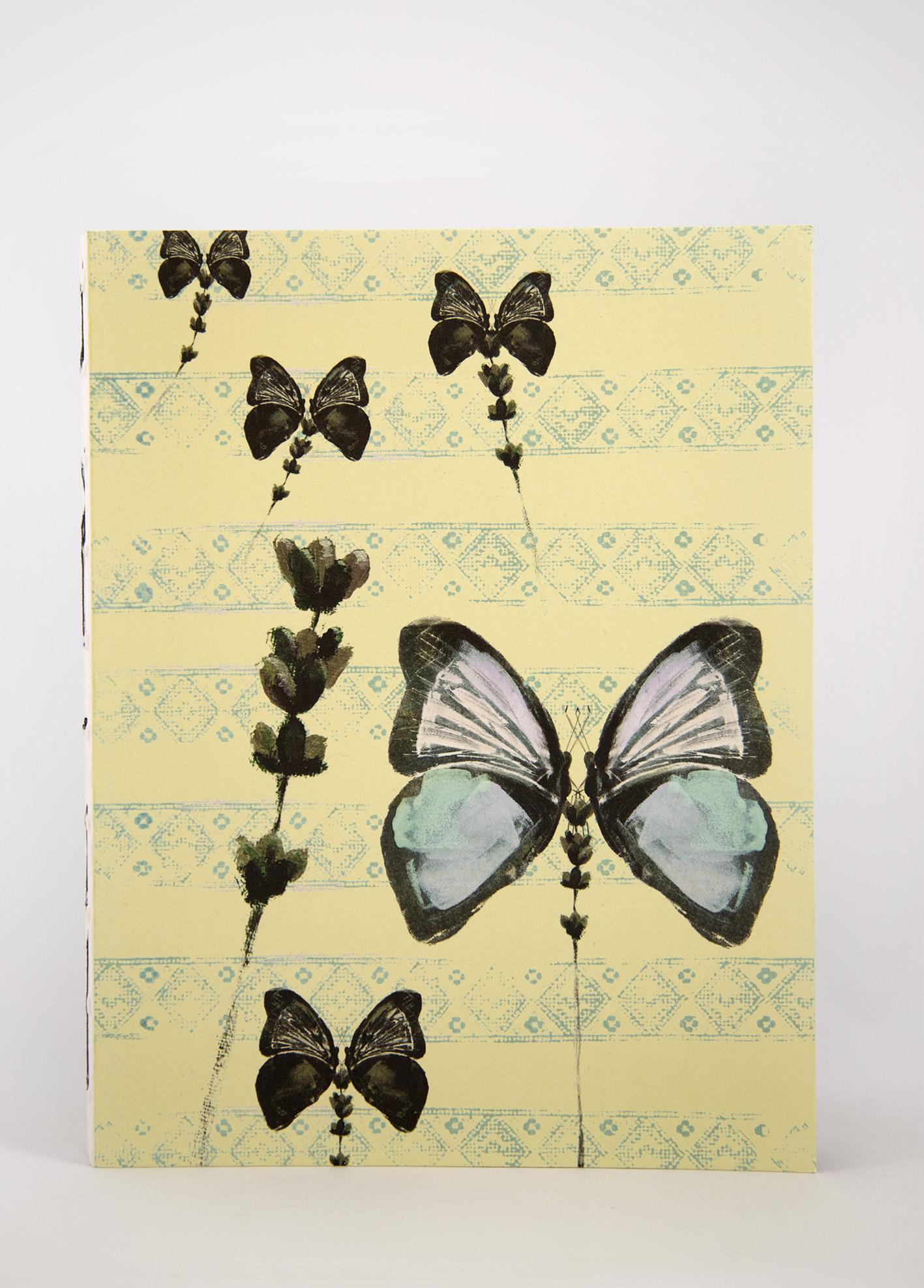 Ecofriendly notebook/sketchbook Fjärilar