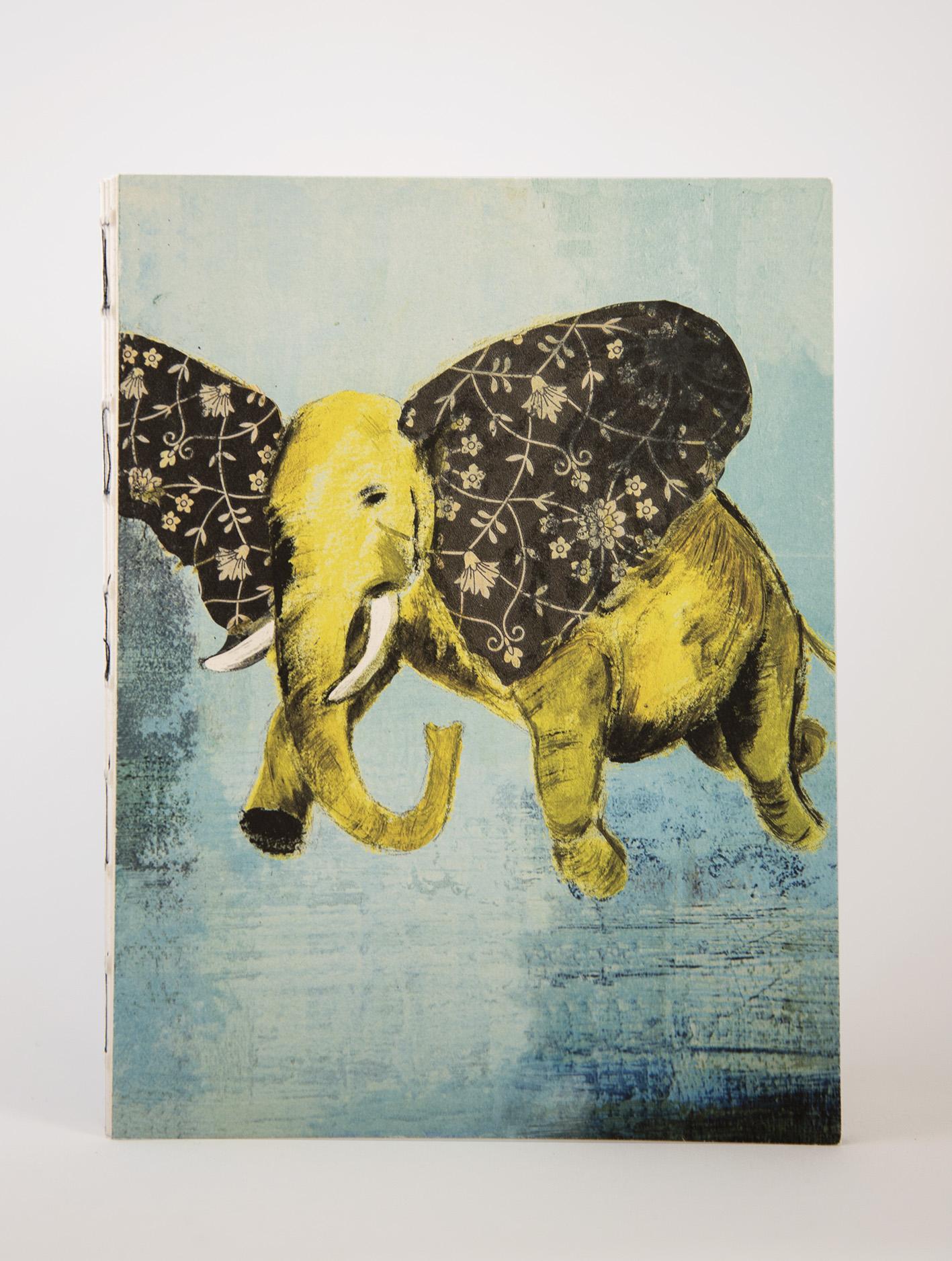 Ecofriendly notebook/sketchbook Elefanter