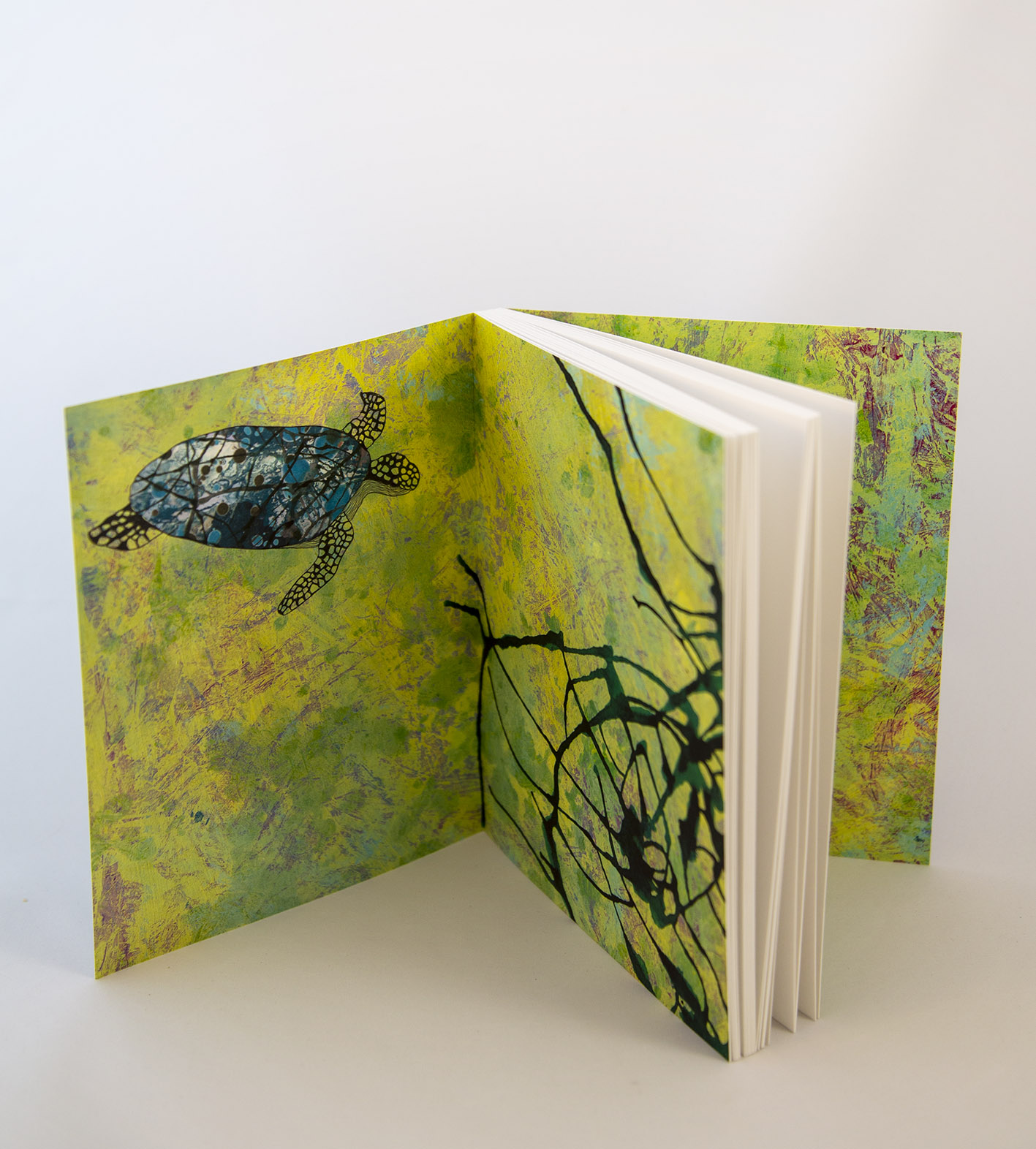 Ecofriendly notebook/sketchbook Grön