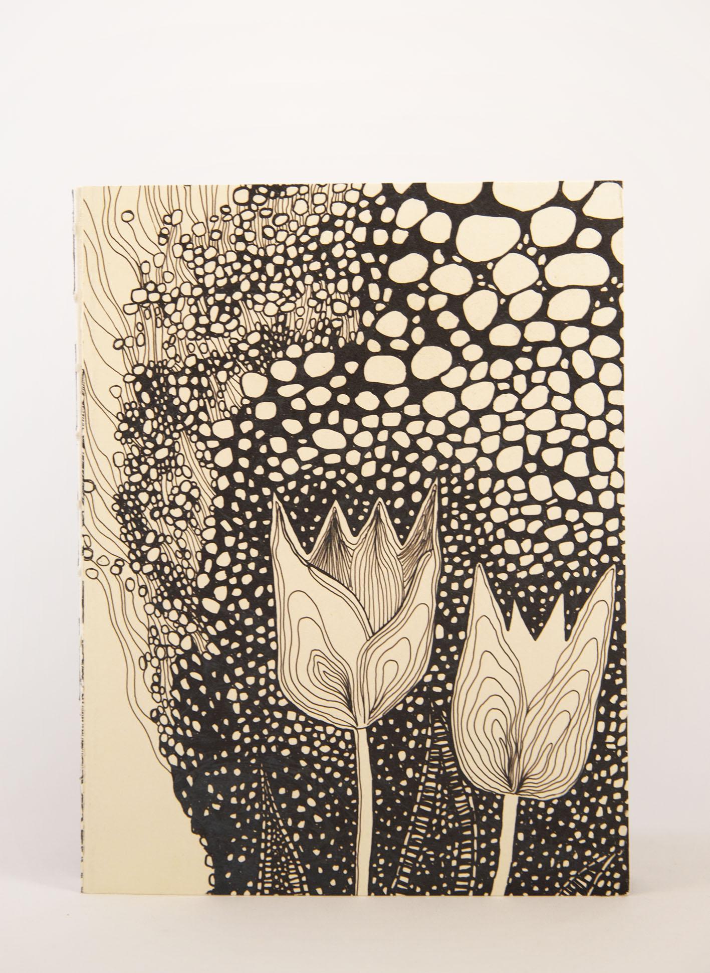 Ecofriendly notebook/sketchbook Blommor