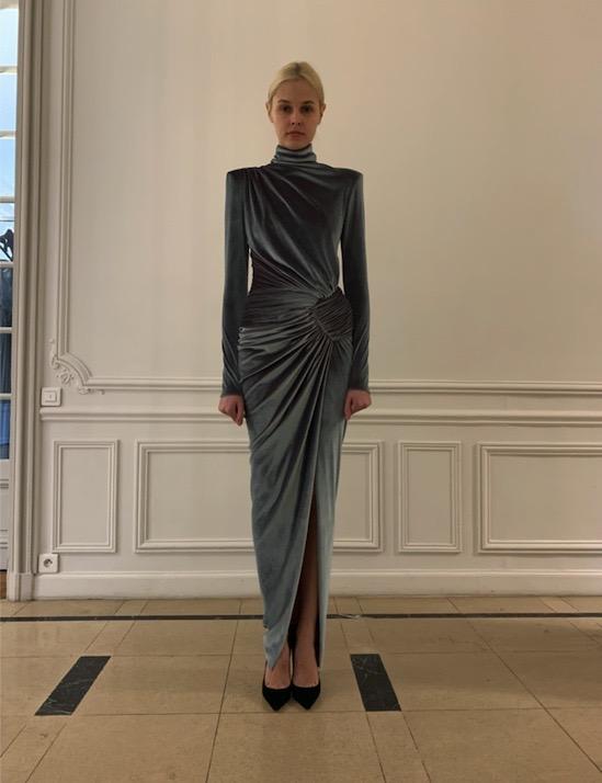 Alexandre Vauthier LONG TURTLE NECK DRESS