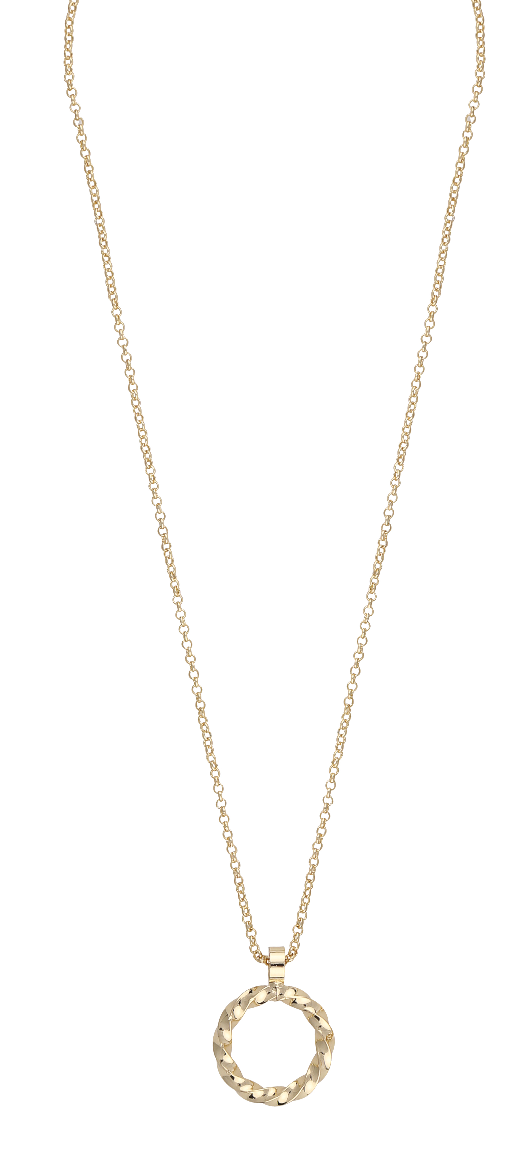 Turn Pendant Necklace Gold
