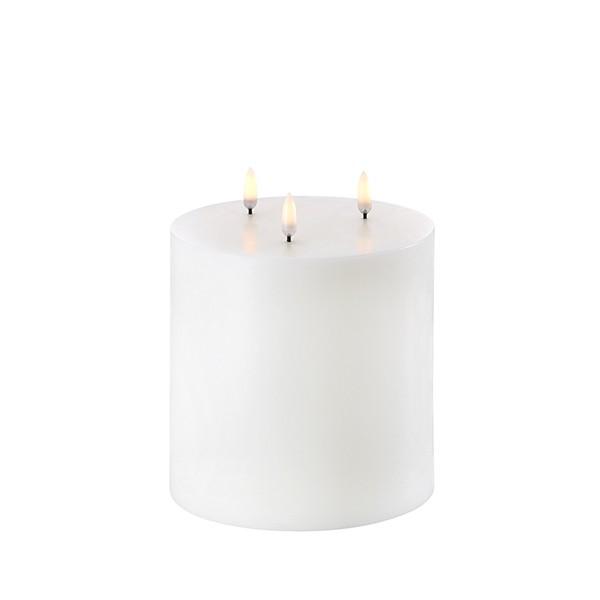 Triple Flame Pillar Candle 15 x 15 cm