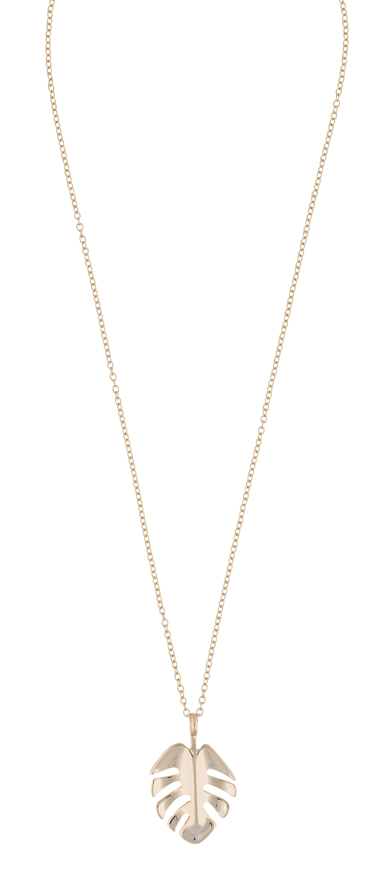 Hyde Leaf Pendant Necklace Gold