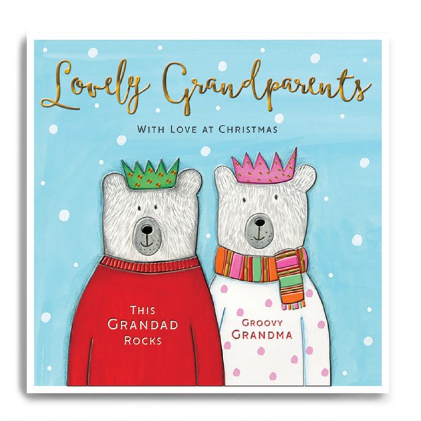 Janie Wilson Lovely Grandparents Christmas card