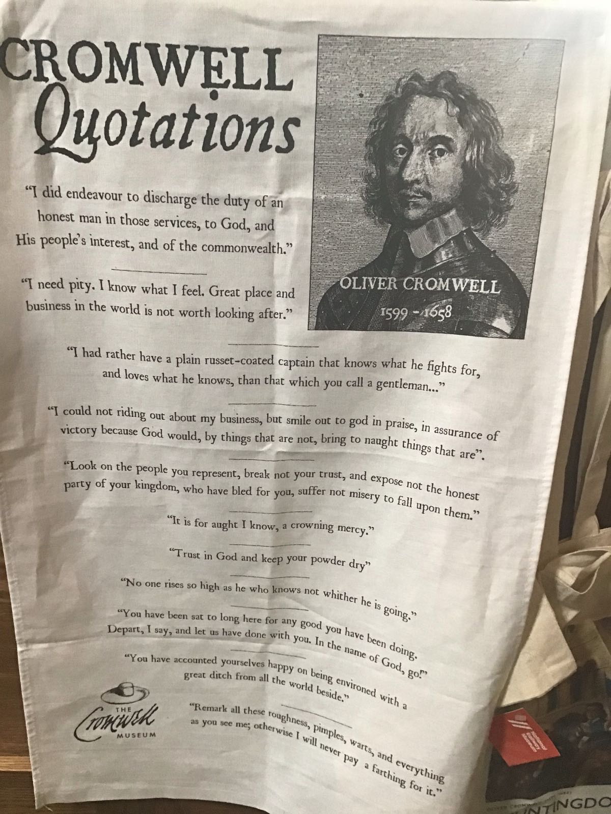 Tea Towel: Cromwell Quotations (SKU: TX-TT-002)