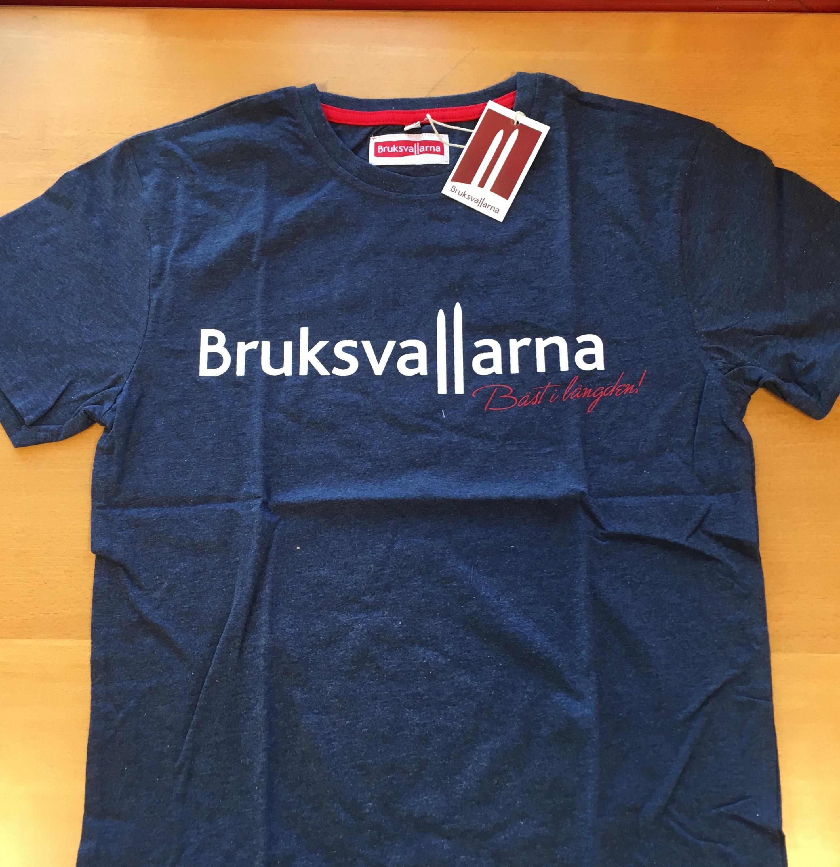 Bruksvallarna T-shirt Blå Herrmodell XL & XXL