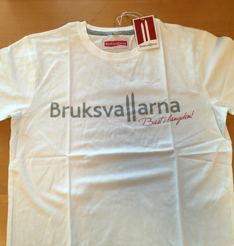 Bruksvallarna T-shirt Vit Vuxenmodell XL & XXL
