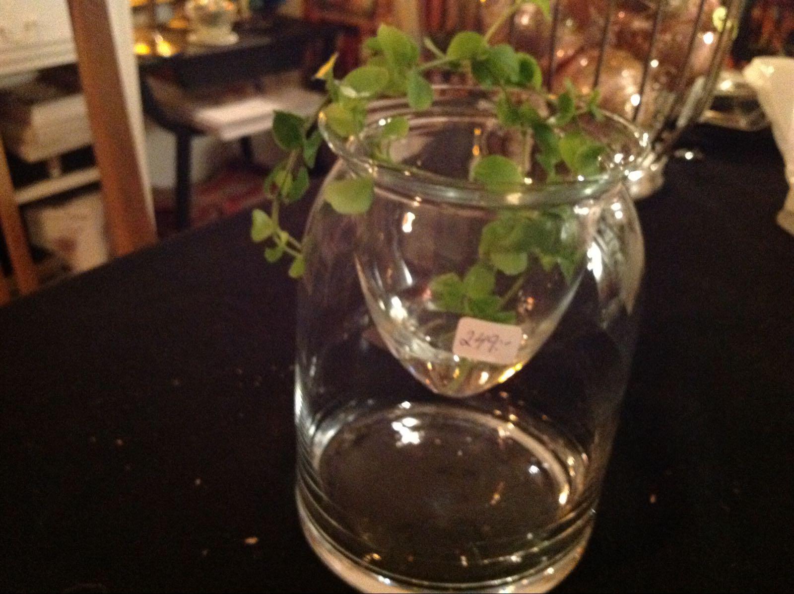 Glas skål lykta (second hand, vintage, retro)