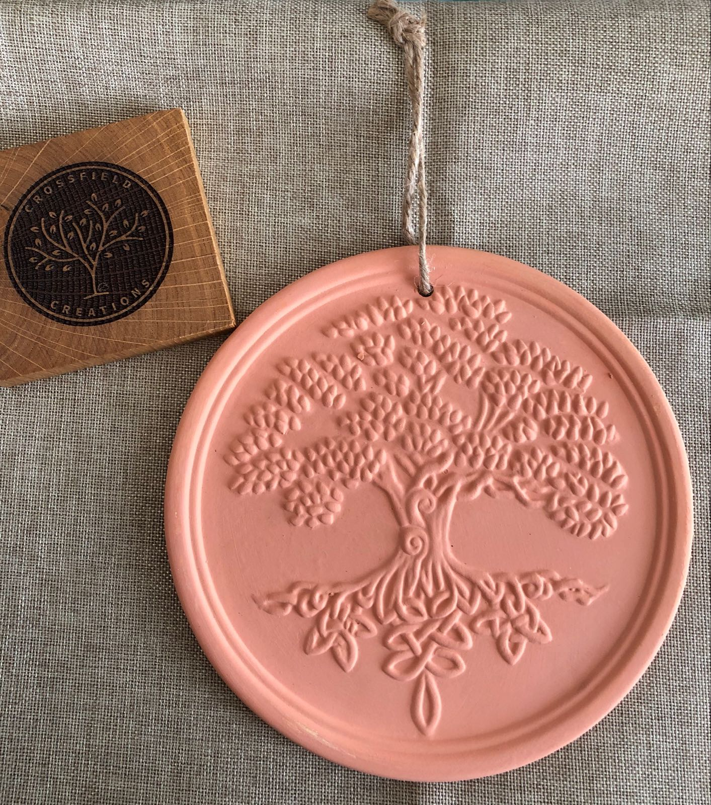 Terracotta tree of life hanging plaque