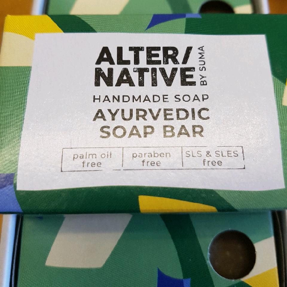 Ayvurvedic soap bar . palm oil free