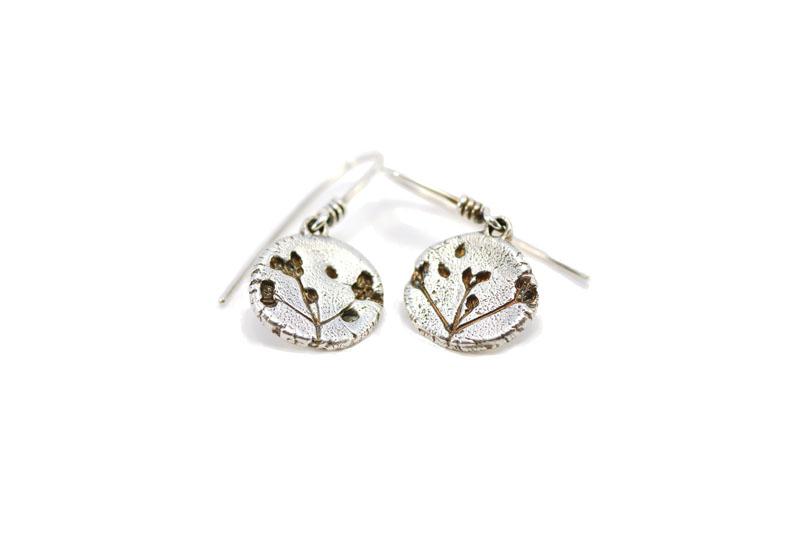 WES054, Stone Parsley drop earrings