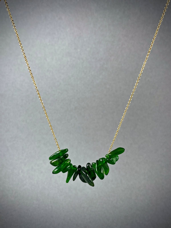 WES172, Diopside necklace