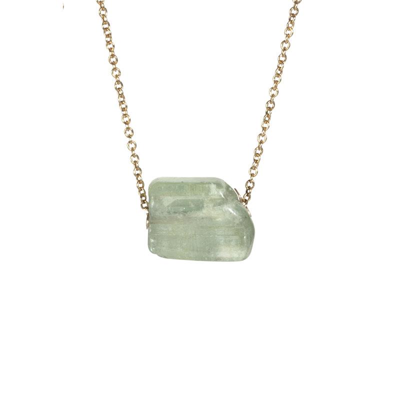WES105, Reflected Sunlight Aquamarine necklace