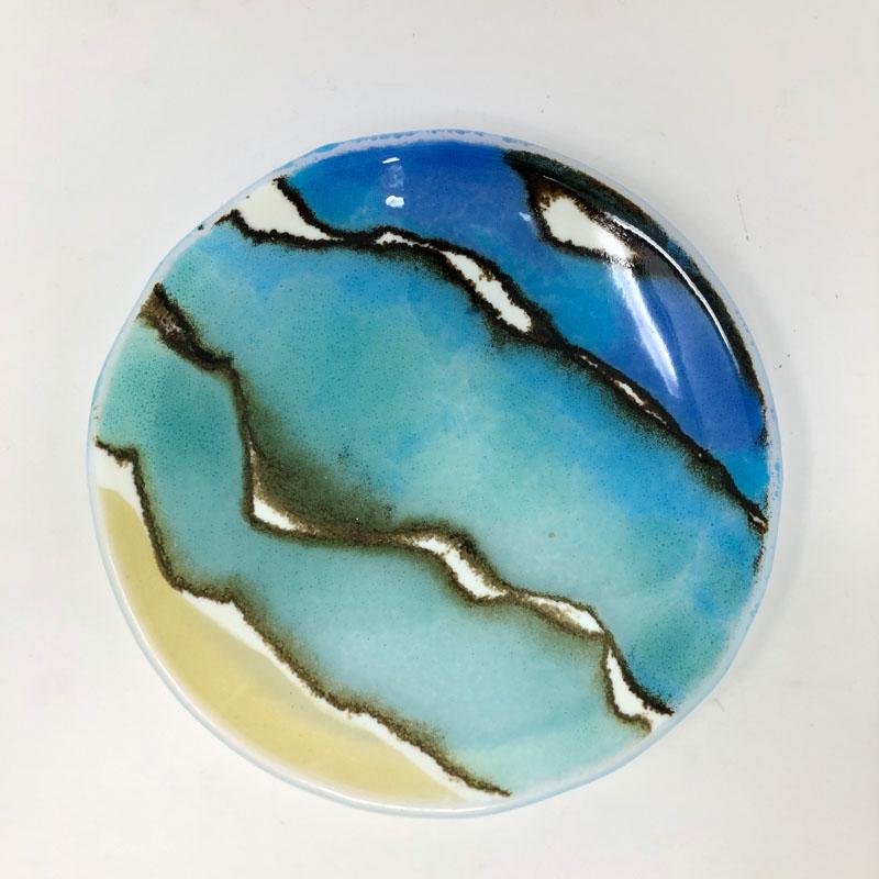 SHI291, Sand, Sea and Surf shallow bowl