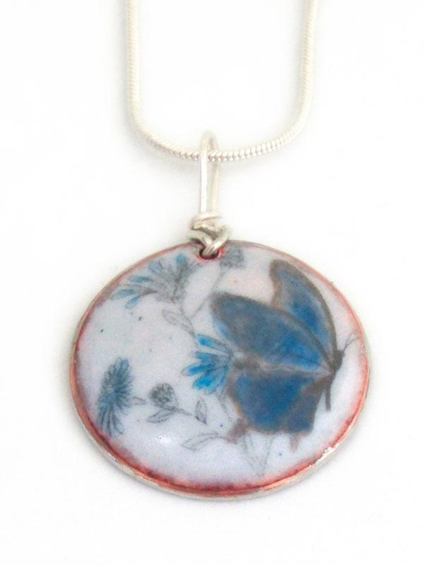 MCA155, Blue Butterfly Pendant
