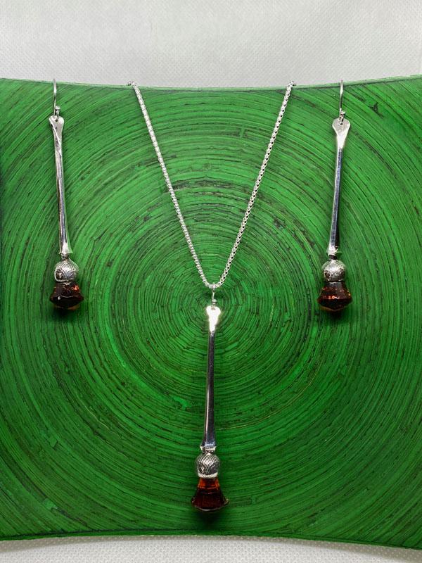 POW018, Thistle Spoon Jewellery Set