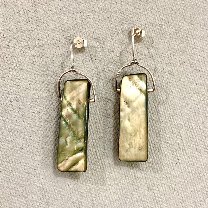 WES214, Paua shell earrings