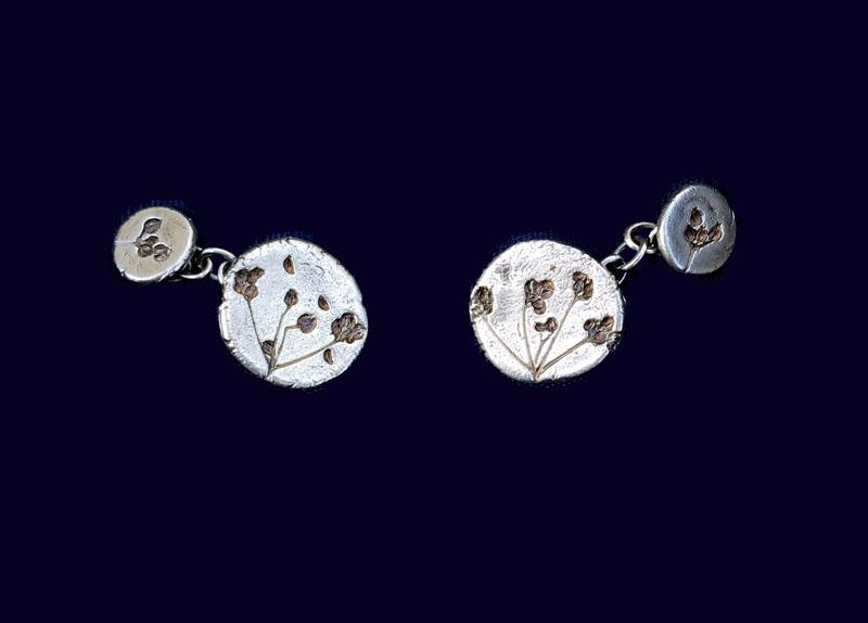 WES057, Stone Parsley cufflinks