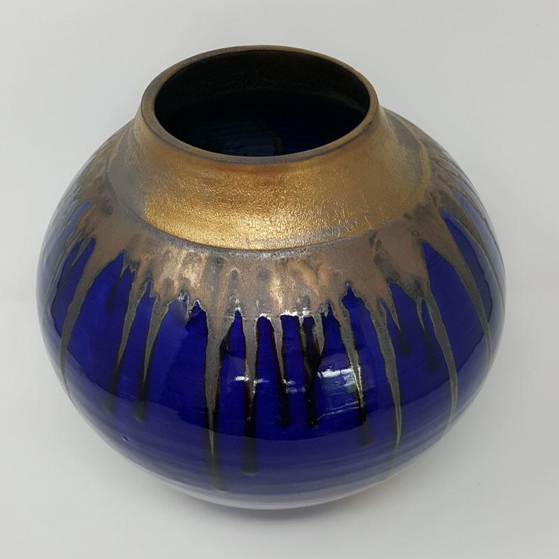 BRI060, Midnight Blues Moon Jar