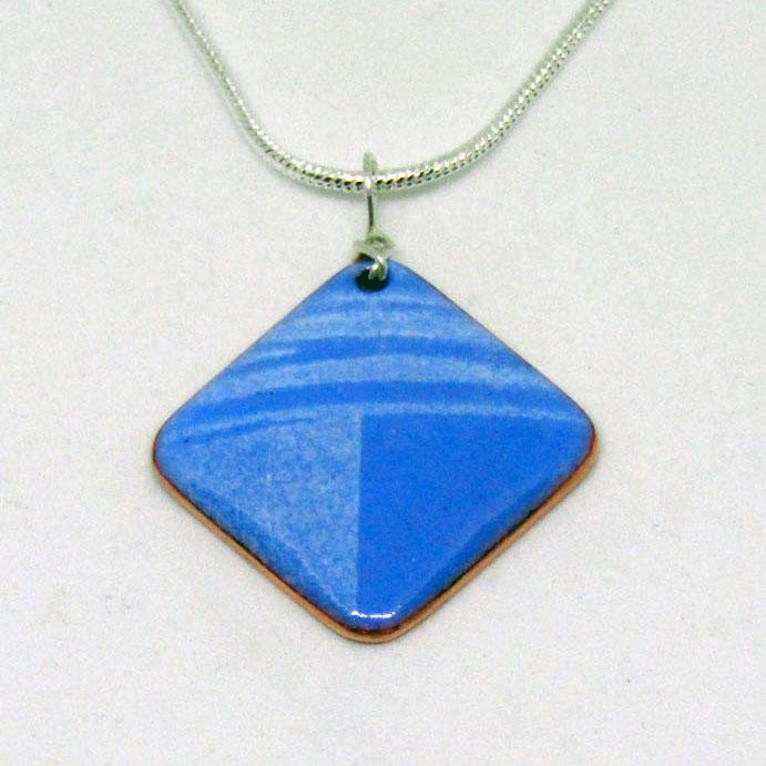 MCA180, Small Blue and White Pendant