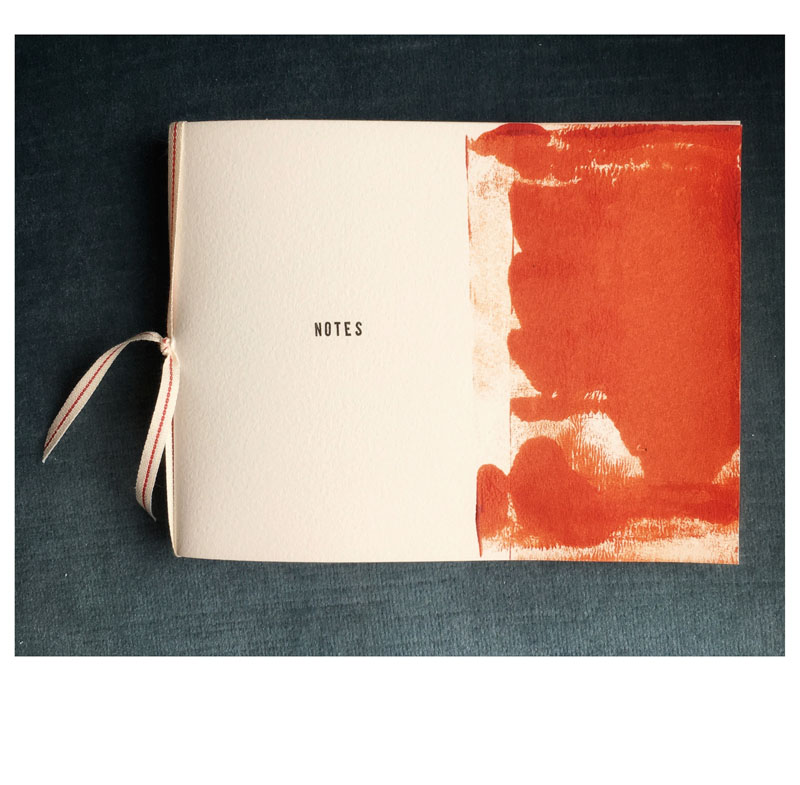 FRA112, Ribbon bound artist notebook