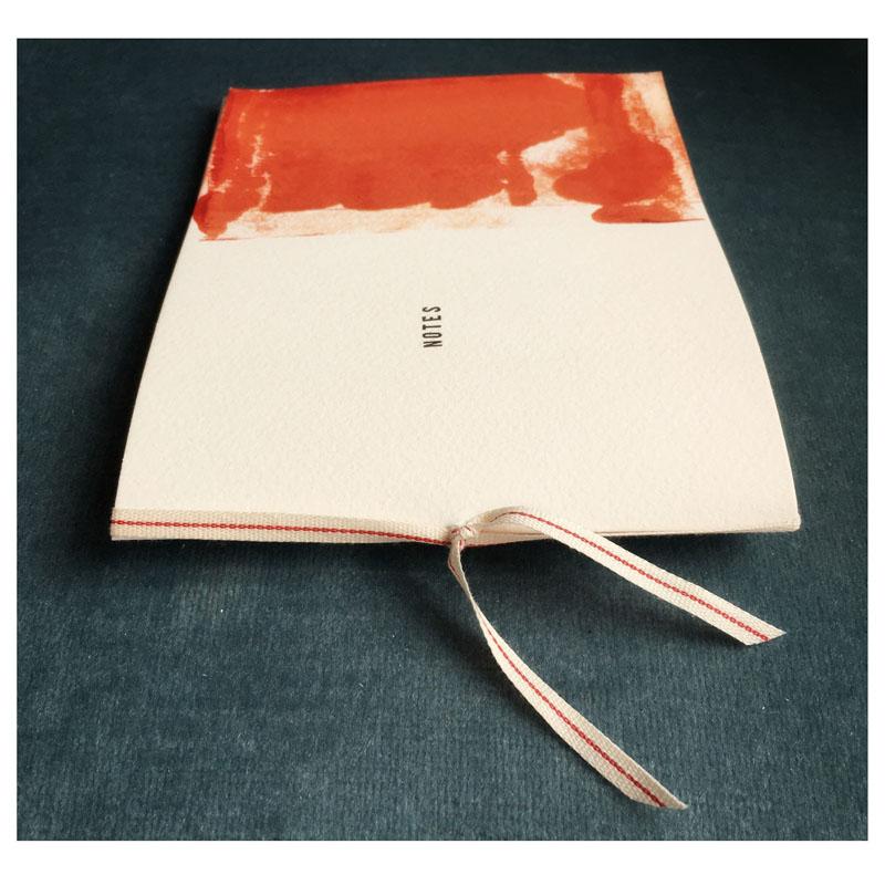 FRA112, Ribbon bound artist notebook