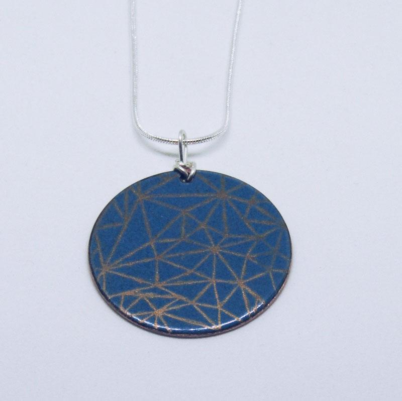 MCA210, Enamel Copper Fine S/S pendant