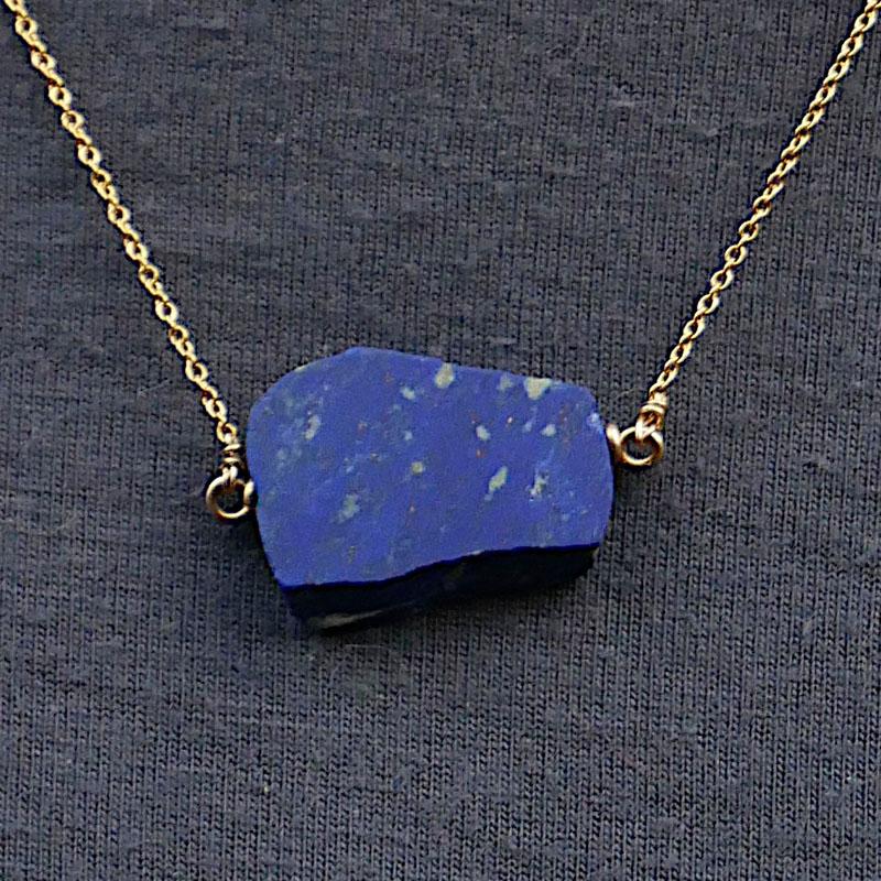 WES193, Lapis lazuli gold filled necklace