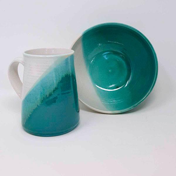 BRI095, Turquoise Hygge Breakfast Set