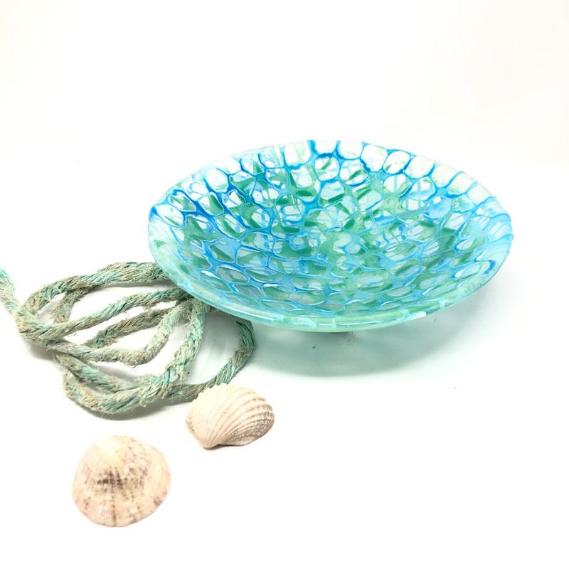 SHI023, Fishing net bowl Blues