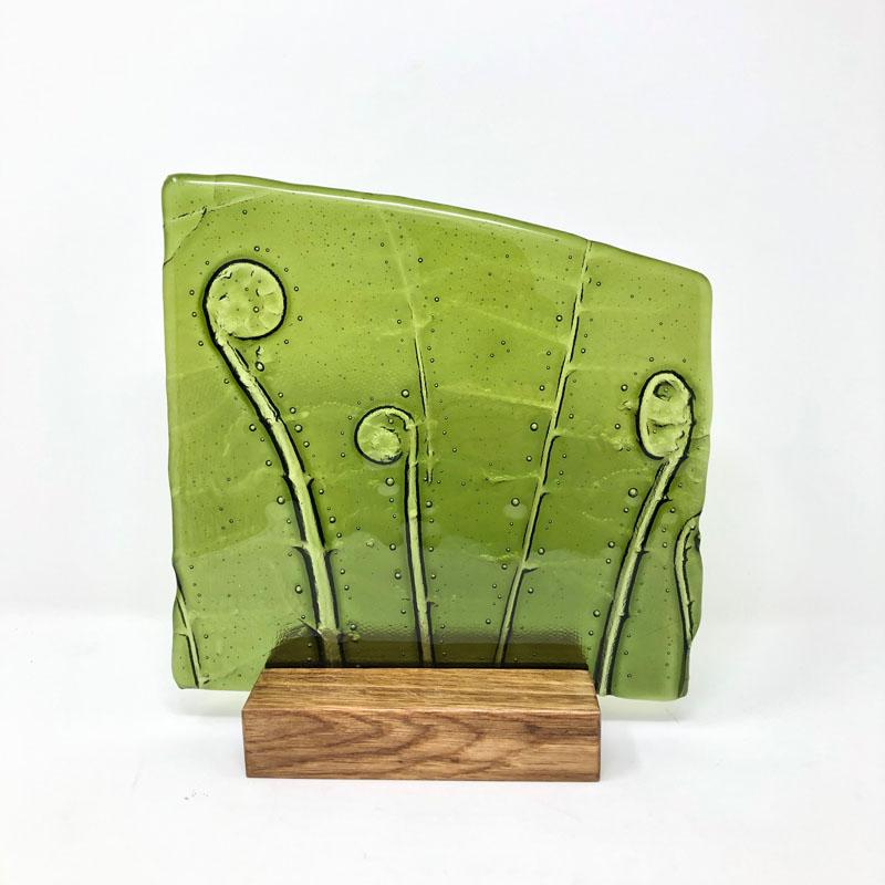 SHI282, Green Fern in block