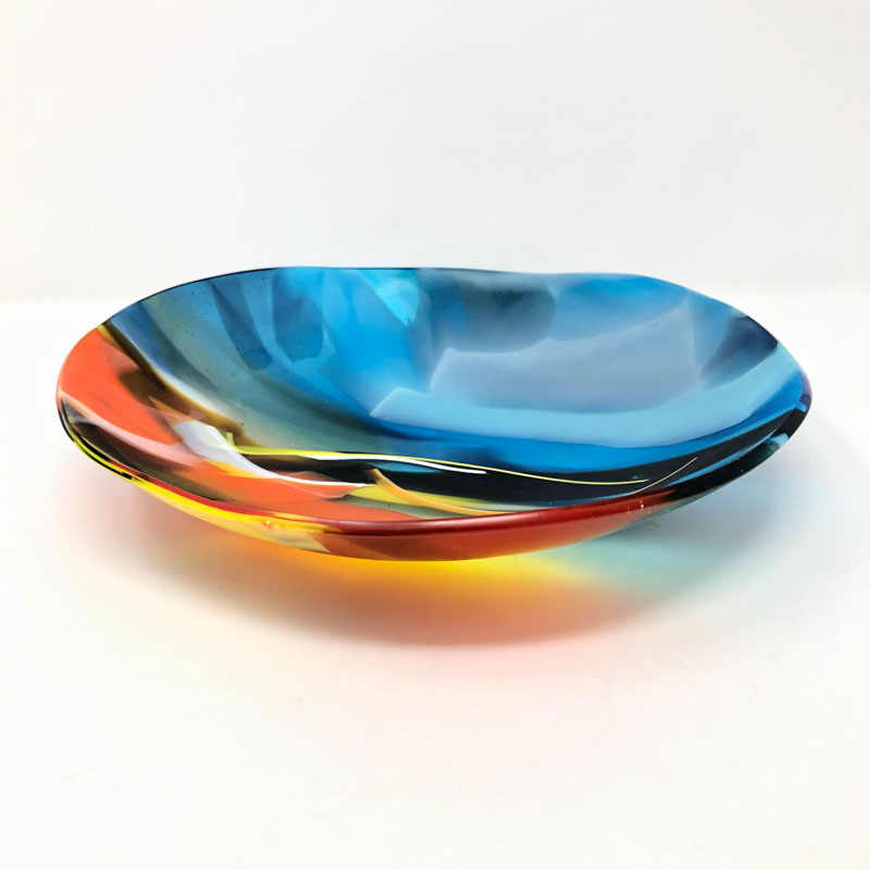SHI305, Abstract Blue/Orange Bowl