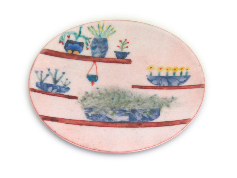 MCA157, Blue Planter Enamel Dish