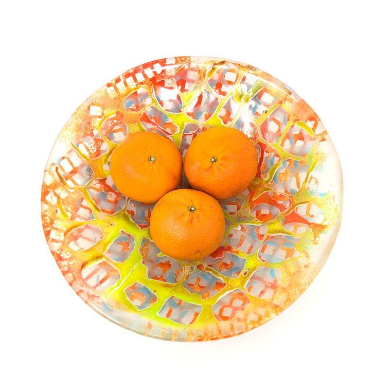 SHI024, Fishing net bowl Oranges